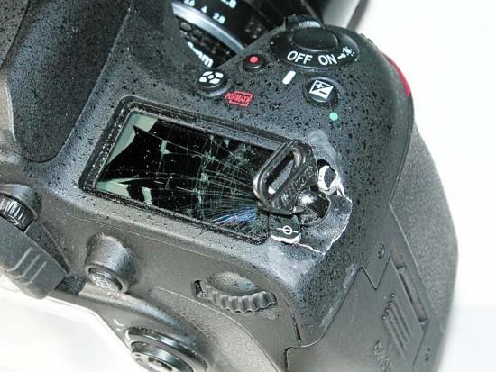 Damaged Nikon D610 camera