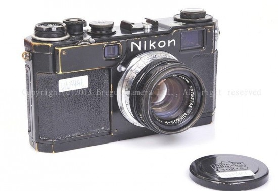 Nikon S2 black paint early type black dial camera with Nikkor-H 50mm f:2