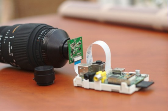 Using mobile phone Raspberry Pi camera sensor with Nikon lenses