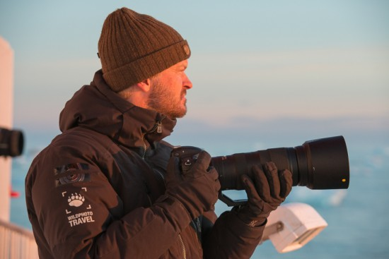 Author in the field on Svalbard – photo by WildPhoto Travel guide and friend Frede Lamo.