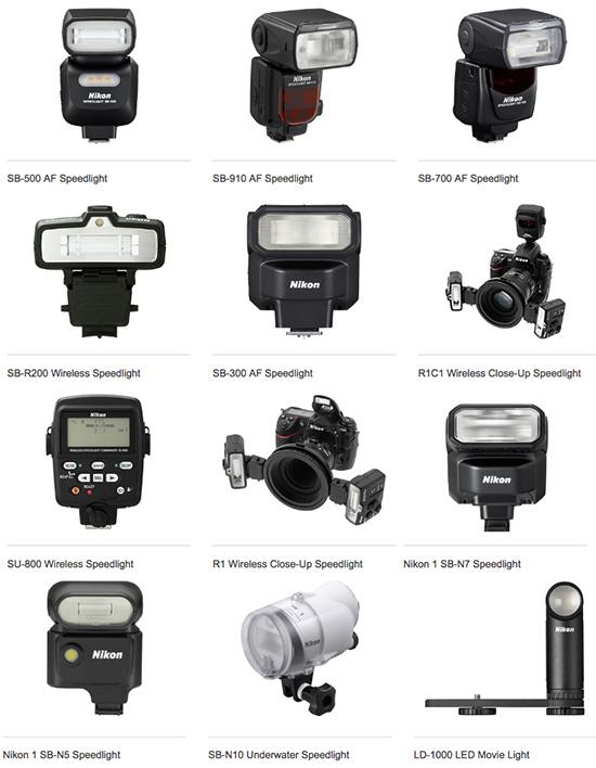 Nikon-Speedlight-flash-products-lineup