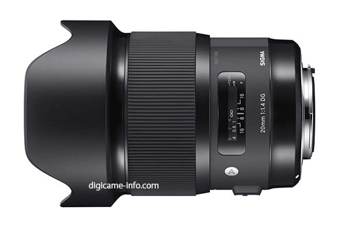 Sigma 20mm f:1.4 DG HSM Art lens