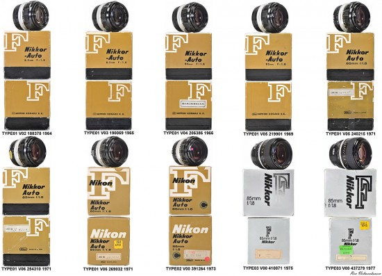 Different-types-of-packaging-Nikon-used-over-the-years-Nikkor-85mm-f1.8