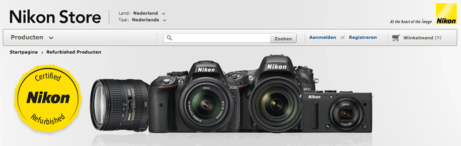 Nikon refurbished gear now also available in Europe - Nikon