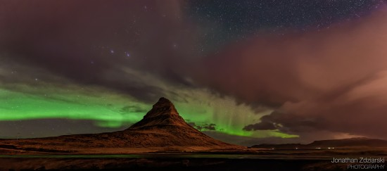 Aurora Over Kirkjufell Nikon 14-24mm, 14mm, f/2.8, 15s, ISO 3200