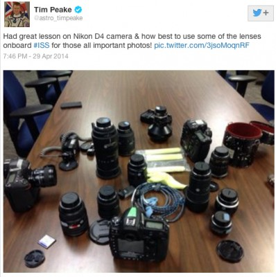 British astronaut Tim Peake set to use Nikon D4 in space