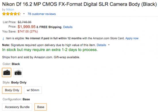 Nikon-Df-camera-on-sale