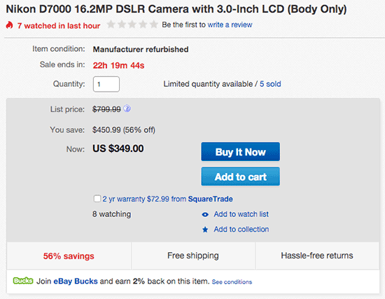 Refurbished-Nikon-D7000-camera-sale