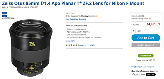 Zeiss-Otus-85mm-f1.4-Apo-Planar-T-ZF.2-lens-sale
