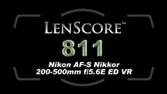 Nikon AF-S Nikkor 200-500mm f:5.6E ED VR lens scrore
