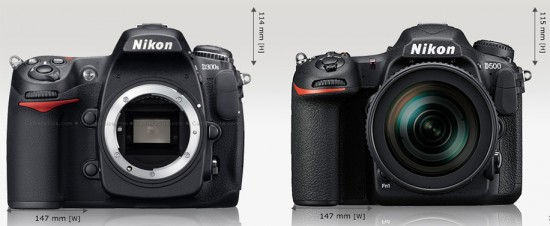 Nikon-D300s-vs.-D500-size-comparison