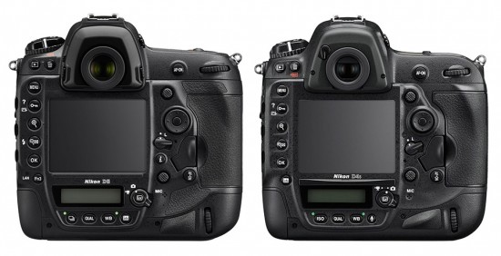 Nikon D5 vs. D4s specifications comparison 2