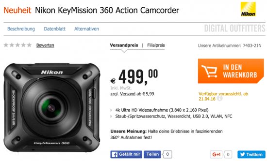 Nikon-KeyMission-360-action-camera-pricing