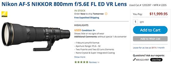 Used-Nikon-AF-S-Nikkor-800mm-f5.6E-FL-ED-VR-lens
