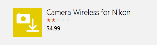 First Nikon wireless app for Windows 10