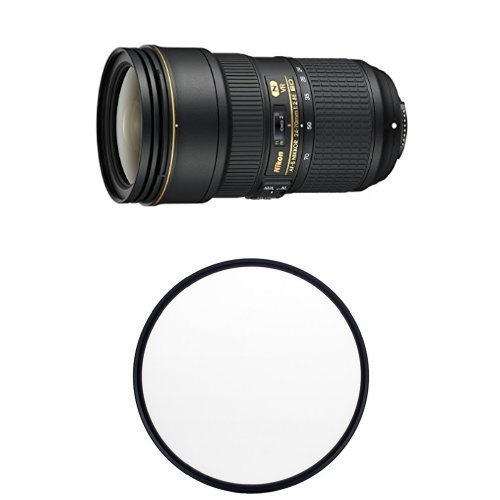 Nikon 24-70mm f:2.8E ED VR lens with free filter
