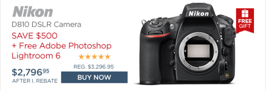 Nikon D810 Lightroom deal
