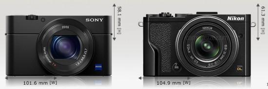 Nikon-DL-24-85-vs.-Sony-RX100IV-front