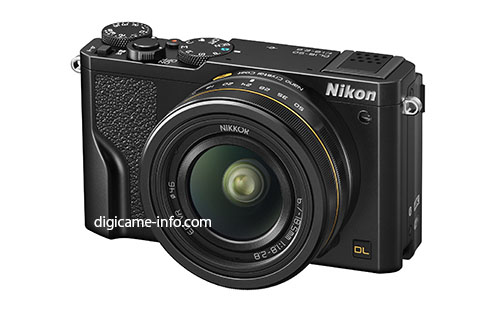 Nikon DL camera with 18-50mm f:1.8 lens