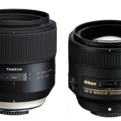 Tamron SP 85mm f:1.8 Di VC USD vs. Nikon AF-S 85mm f:1.8G lenses comparison