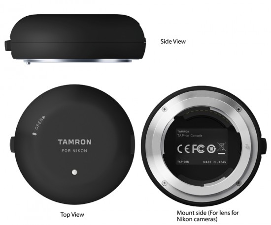 Tamron TAP-in console TAP-01 lens accessory for firmware updates and customized lens setup