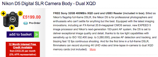 first-Nikon-D5-shipments-will-include-free-Sony-32GB-XQD-memory-card-and-reader
