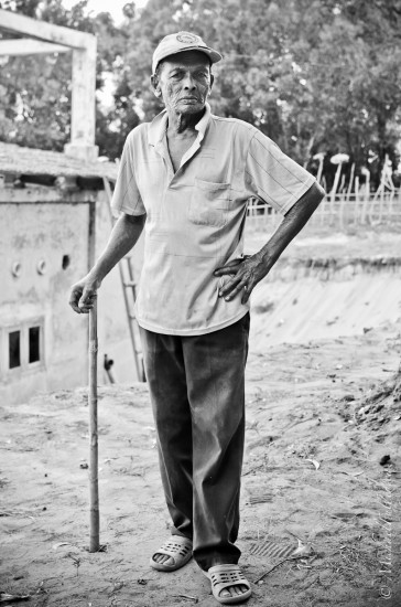 Mr Mohammed, the gardener and very old friend of my new friend.
