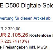 Nikon D500 camera discount in Europe