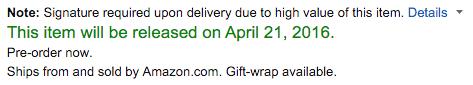 Nikon D500 camera shipping date