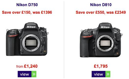 Nikon-D750-D810-camera-discounts-UK