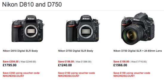 Nikon D810 D750 UK sale