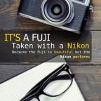 Nikon Fuji heritage ad screwup
