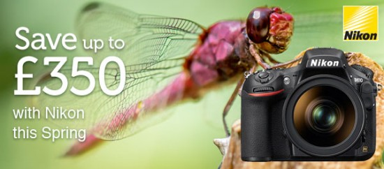 Nikon Spring cashback in the UK