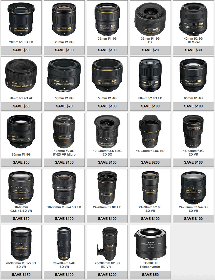Nikon-lens-only-savings-rebates-March-2016