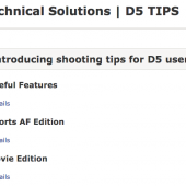 Nikon technical solutions shooting tips for D5