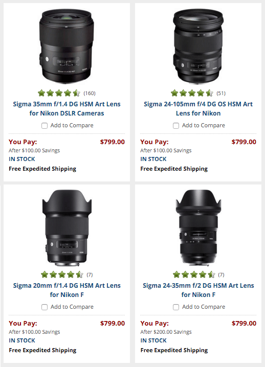 Sigma-Art-lens-sale-discount