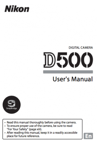 Nikon-D500-users-manual-download