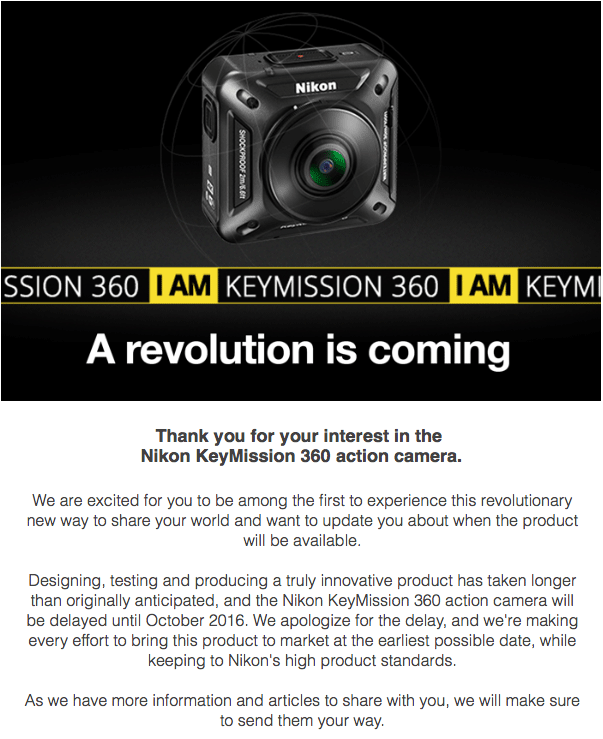 Nikon-KeyMission-360-camera-delay