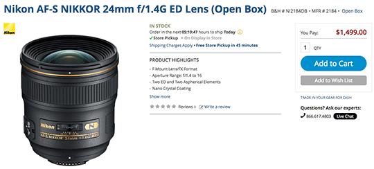 Nikon-AF-S-Nikkor-24mm-f1.4G-ED-lens-deal