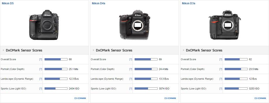 Nikon D4 vs Nikon D4s vs Nikon D3s comparison