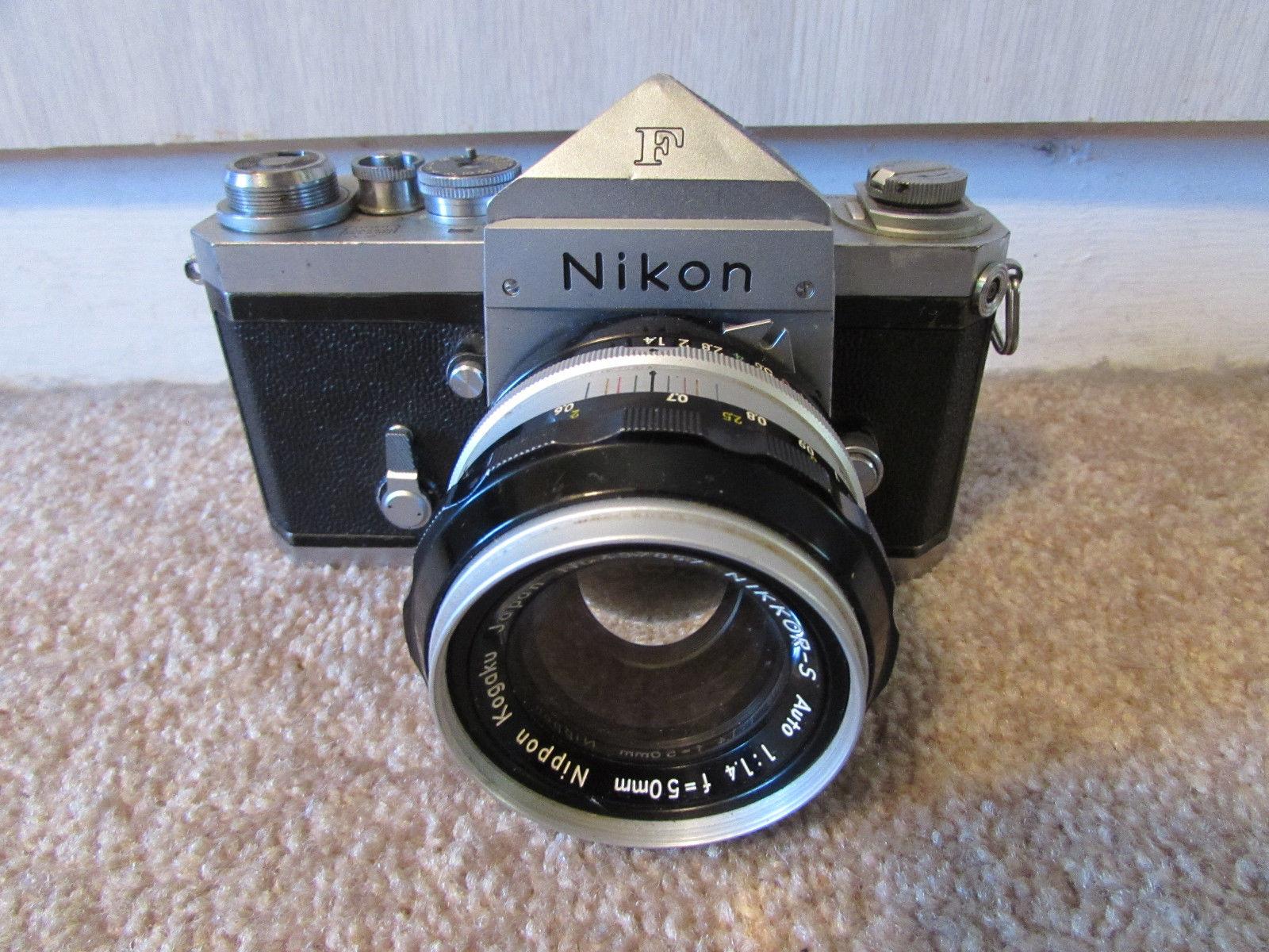 Rare Nikon F camera with original cloth-type shutter curtain for ...