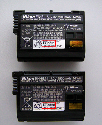 Nikon offers free exchange of older EN-EL15 batteries for D500 owners