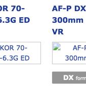 Nikon AF-P DX Nikkor 70-300mm f:4.5-6.3G ED lens