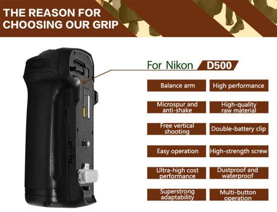 Pixel-Vertax-D17-battery-grip-for-Nikon-D500-camera