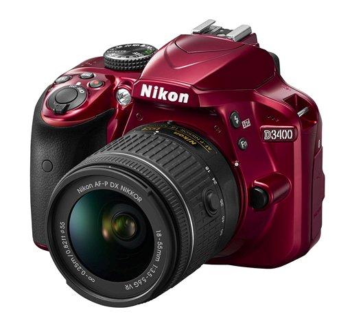 Nikon D3400 DSLR camera red