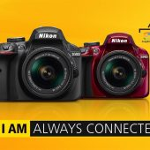 Nikon-D3400-camera-with-SnapBridge