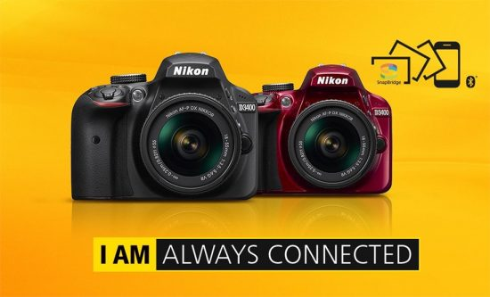 Nikon-D3400-camera-with-SnapBridge