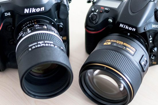 Nikon Nikkor AF-S 105mm f:1.4E ED vs DC-Nikkor AF 105mm f:2D lens comparison
