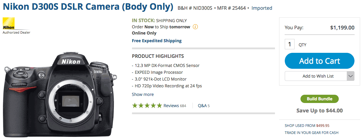 You can still buy a brand new Nikon D300s camera today - Nikon Rumors