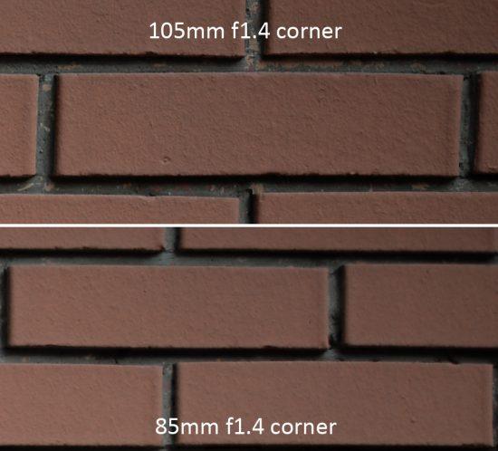 f/1.4 corner